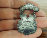 Antique  Silver WCTU Cigarettes Must Go Pin