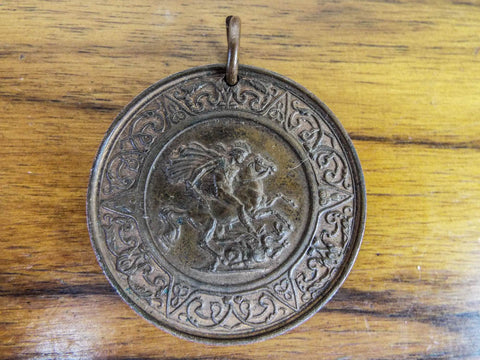 1902 Copper Coin Medallion East Ham School Medal