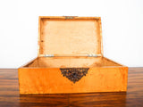 Antique Early 20th C Solid Birds Eye Maple Box