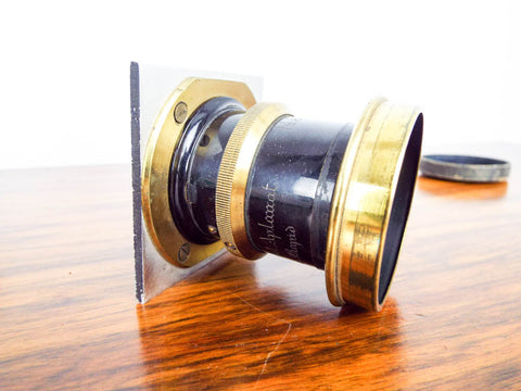 Antique Brass Universal Aplanat Extra Rapid Camera Lens