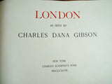 Antique 1897 Signed Charles Dana Gibson London Book Autographed Limited Edition