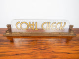 Art Deco Movie Theater Brass Sign ~ Coat Check