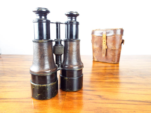 Antique British Military Cased Binoculars WW1 Era by Dollond, London