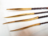 Antique Set of Cassowary Bone Head Hunting Tipped Arrows ~ Papua New Guinea