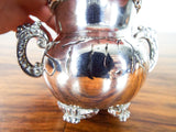 Antique American Pairpont Quadruple Silver Plate Match Holder