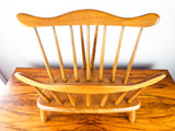 Vintage Solid Maple Wooden Monterey Style Magazine Rack R Veal & Son Holder