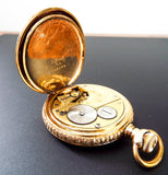 Antique 14K Solid Gold Illinois Pocket Watch Case Co Full Hunter Puritan 1916