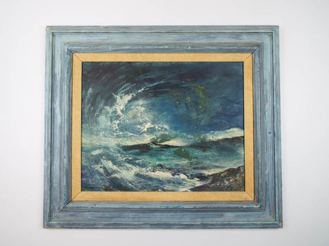 Vinatge Original Seascape Oil on Board Painting