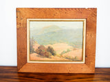 Vintage Signed Landscape Painting by California Artist Emilie Hall