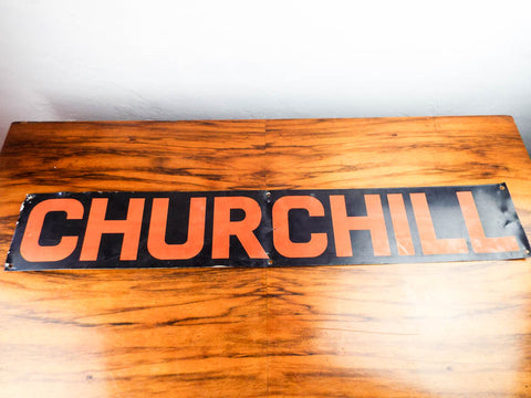 Vintage Metal Political Winston Churchill Sign Retro Cigar Signage Wall Hanging