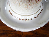 Antique Advertising Bryant & May Match Holder & Striker by Minton