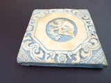 Antique 19th C Moravian Pottery Mercer Pottery Tile