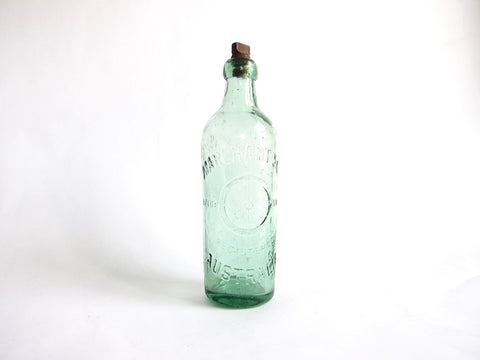 Antique 19th C Primitive Soda Bottle for Marchant