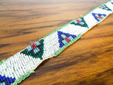 Native American Pyramid Beaded Traditional Belt ~ Northern Plains