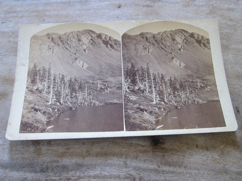"Stereoscope Card by Charles Emery ""Gibbs Peak & Lakes of the Clouds"" - Yesteryear Essentials  - 1"