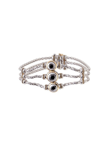 Beijos 3 Strand 3 Stone CZ Bracelet by John Medeiros Jewelry Collections