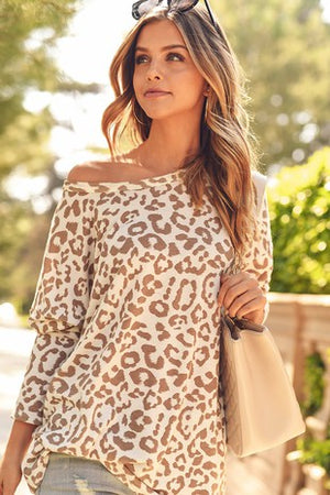 Leopard Non-Brushed Top (ONLINE ONLY)