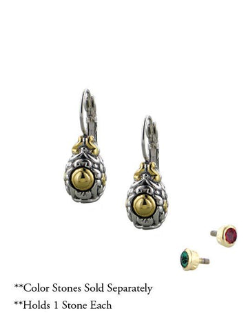 Celebration Interchangeable Stone Collection -French Wire Earrings by John Medeiros Jewelry Collections.