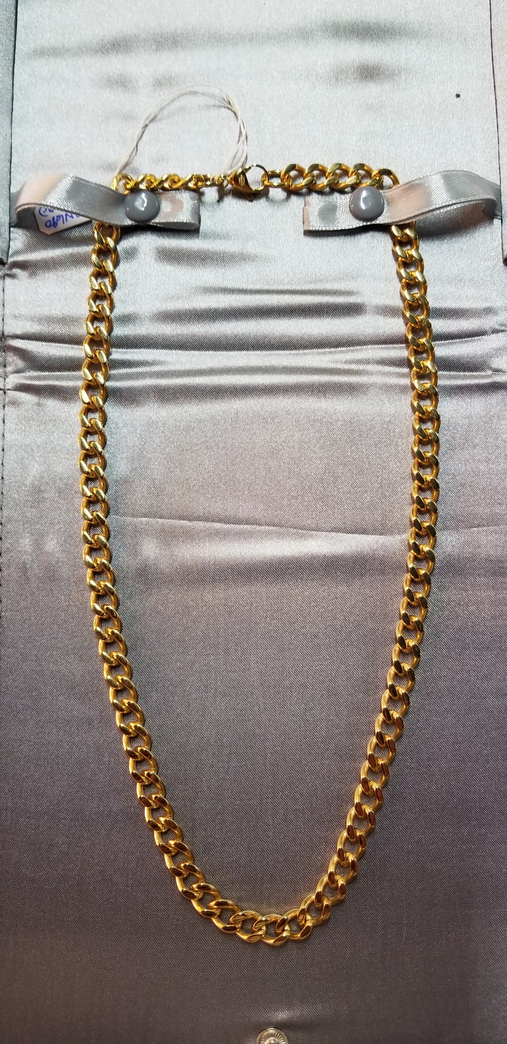 Stainless Steel IP Gold-Plated 7.5mm 20in Curb Chain