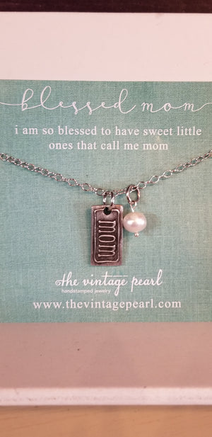 Blessed Mom Charm Necklace