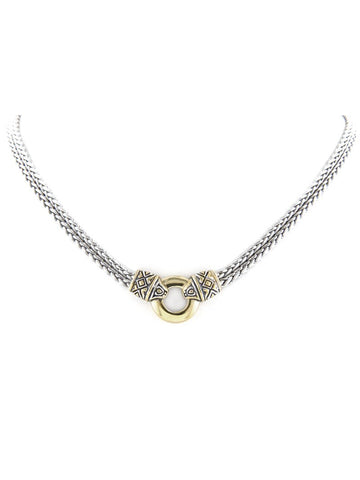 Antiqua Gold Circle Double Strand Necklace by John Medeiros Jewelry Collections.