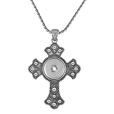 Bling Cross Necklace - GingerSnap Collection
