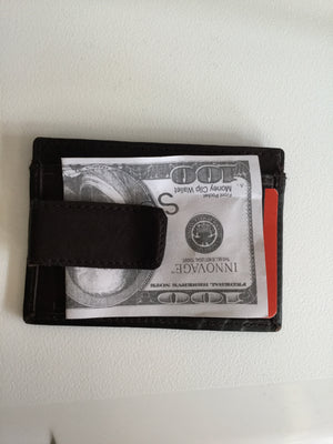 Brown Leather Money Clip Wallet