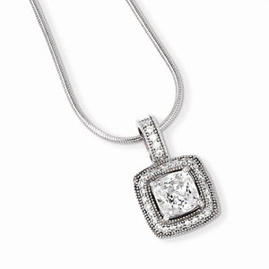 "18"" STERLING SILVER & CZ BRILLIANT EMBERS NECKLACE"