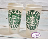 Personalized Starbucks reusable plastic travel mug, 16oz, high quality vinyl decal, handwash only …