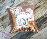 Sequin Pillow - Unicorn with or without name