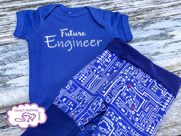 6m/3m-12m, Shirt/Grow Along Leggings,  RTS