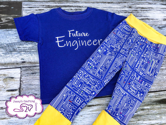 XS/3t-6t, t-shirt/Grow Along Leggings