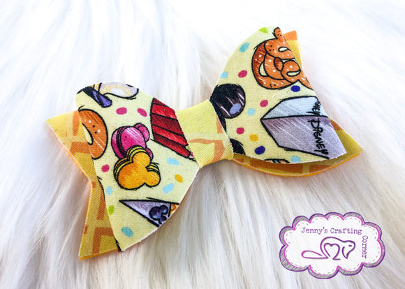 Fabric stacked bow