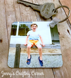 Customized family photo keychain