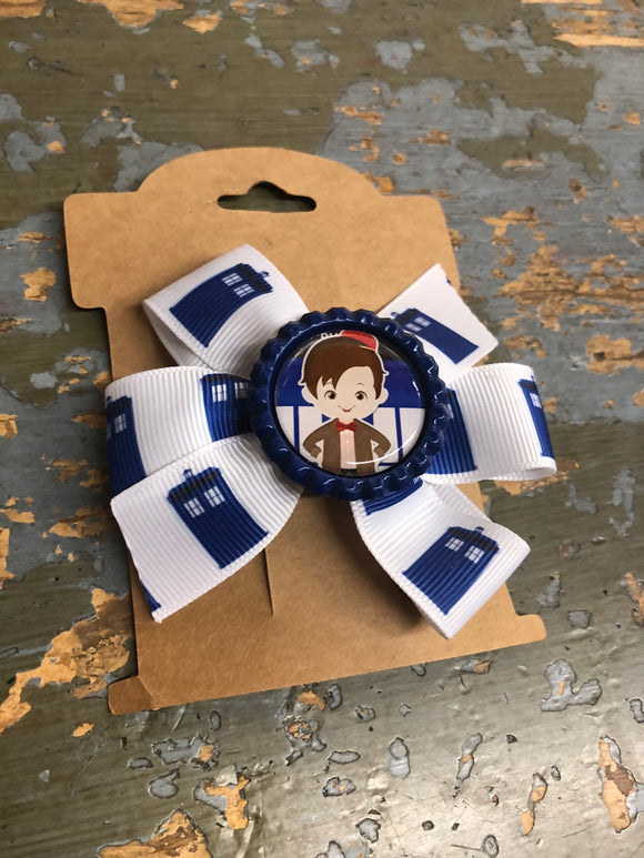 Dr Who, ribbon hair clip,  RTS