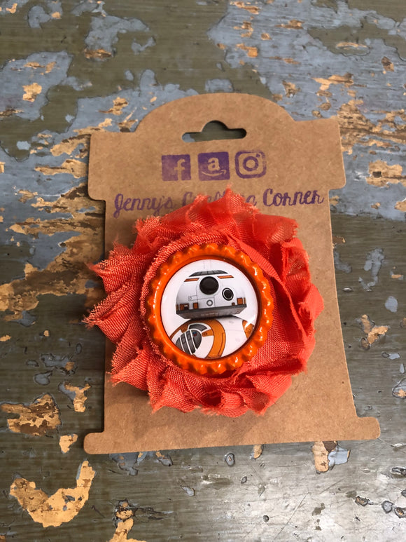 BB8, flower hair clip,  RTS