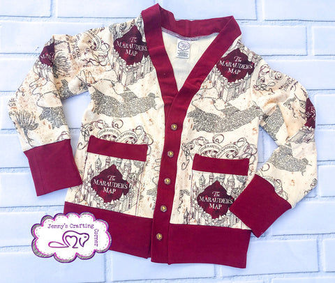 Harry Potter maps sweater, Size 4t