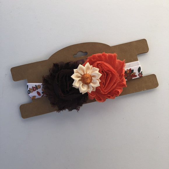 Thanksgiving flower, Headband,  RTS