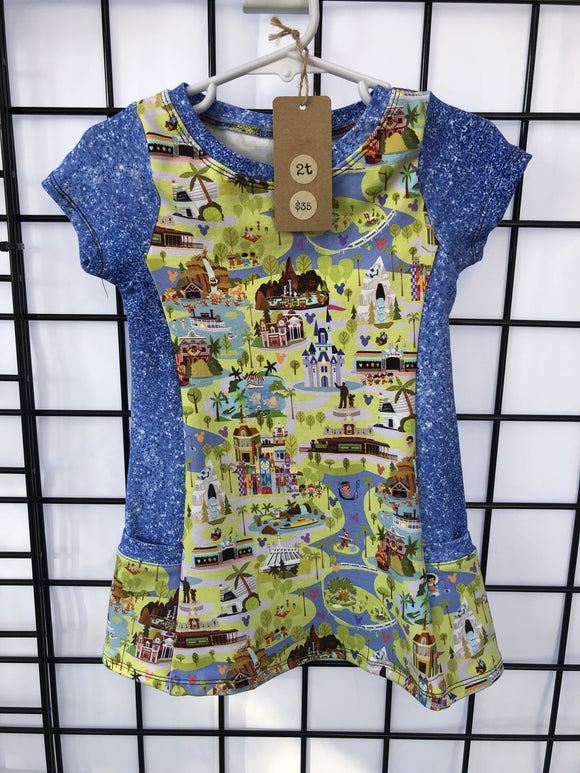 2t tunic w/pockets,  RTS