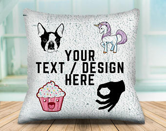 Sequin Pillow - Custom Design