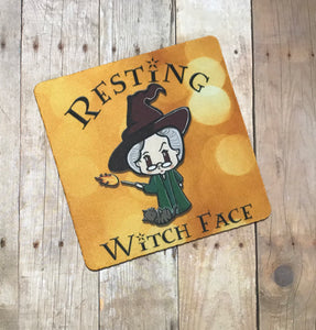 Resting witch face coaster