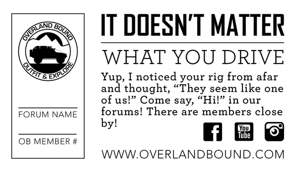 Member Invite Card - 'We Like Your Rig' Qnty 100