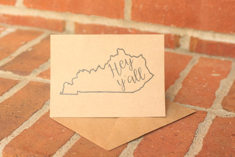 Kentucky Kraft Note Cards