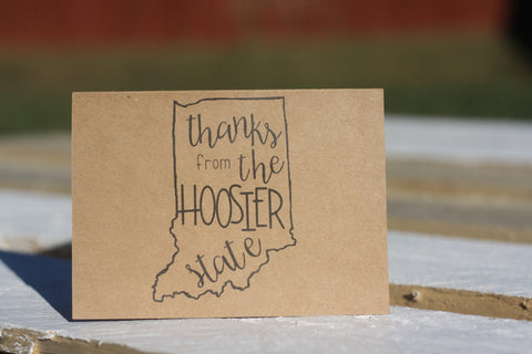 Thanks from the Hoosier State Notecards