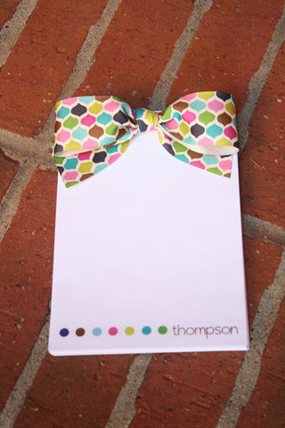 Covered dot notepad