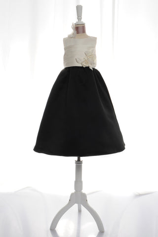 Black/Ivory Flower Girl Dress - Concepcion Bridal & Quinceañera Boutique