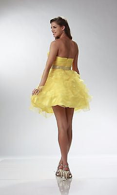 Homecoming Yellow Dress - Concepcion Bridal & Quinceañera Boutique