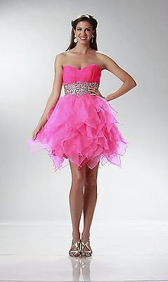 Homecoming Short Hot Pink Dress - Concepcion Bridal & Quinceañera Boutique