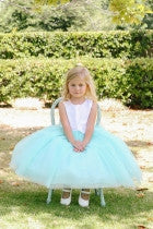 Glitter Tulle Flower Girl Dress - Concepcion Bridal & Quinceañera Boutique