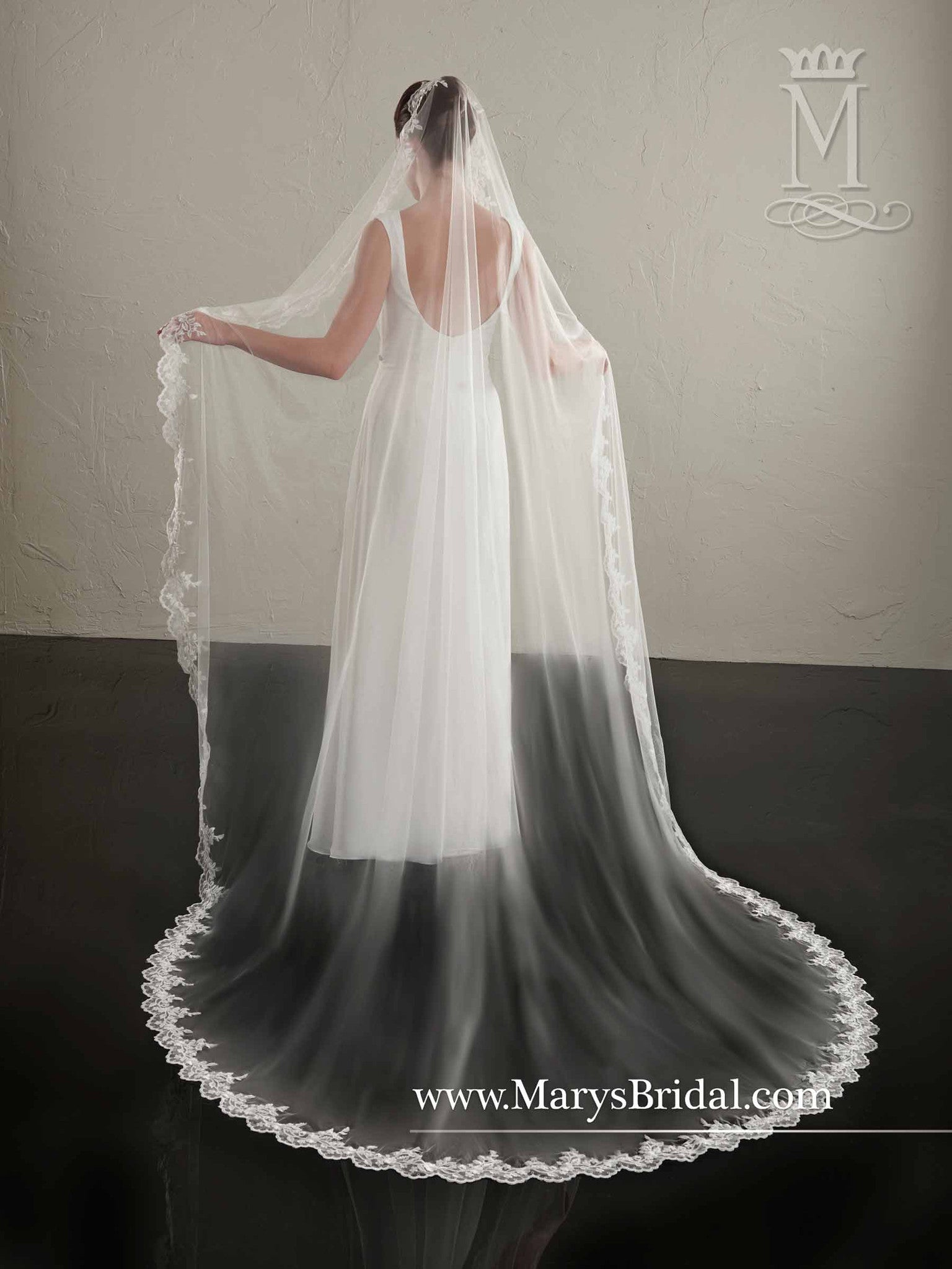 "Lace 120"" Long Veil - Concepcion Bridal & Quinceañera Boutique"